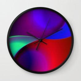 a towel full of colors -11- Wall Clock