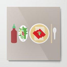 Sriracha Meal Metal Print