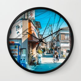 Anime Tokyo Streets Wall Clock