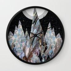 Moon mountains (landscape design) Wall Clock