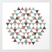 hexagon Art Prints featuring Hexagon by Pavel Saksin