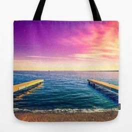 Docks in Vibrant Color Tote Bag