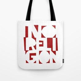 No Religion V-Red Tote Bag