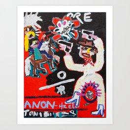Damp Horsey Art Print