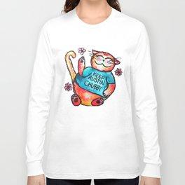 Keep Austin Chubby Chubbycat Long Sleeve T-shirt