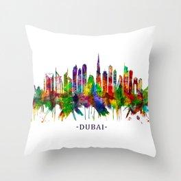 Dubai United Arab Emirates Skyline Throw Pillow