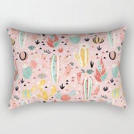 Pink Desert pattern Rectangular Pillow
