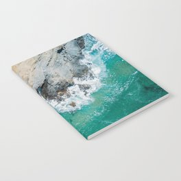 Ocean Waves Crushing, Drone Photography, Aerial Landscape Photo, Large Printable Photography, Ocean Notebook