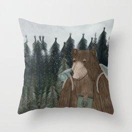 exploring time Throw Pillow