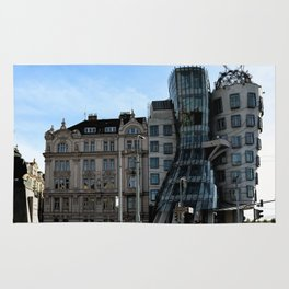 The Dancing House in Prague by Frank Grehry Rug