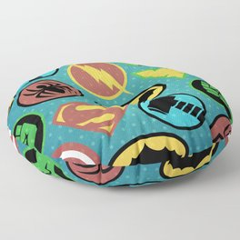 Superheroes Everywhere Floor Pillow