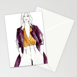 Violet Overcoat Stationery Cards