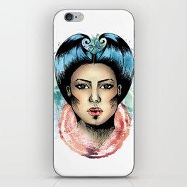 Queen of rough hearts iPhone Skin