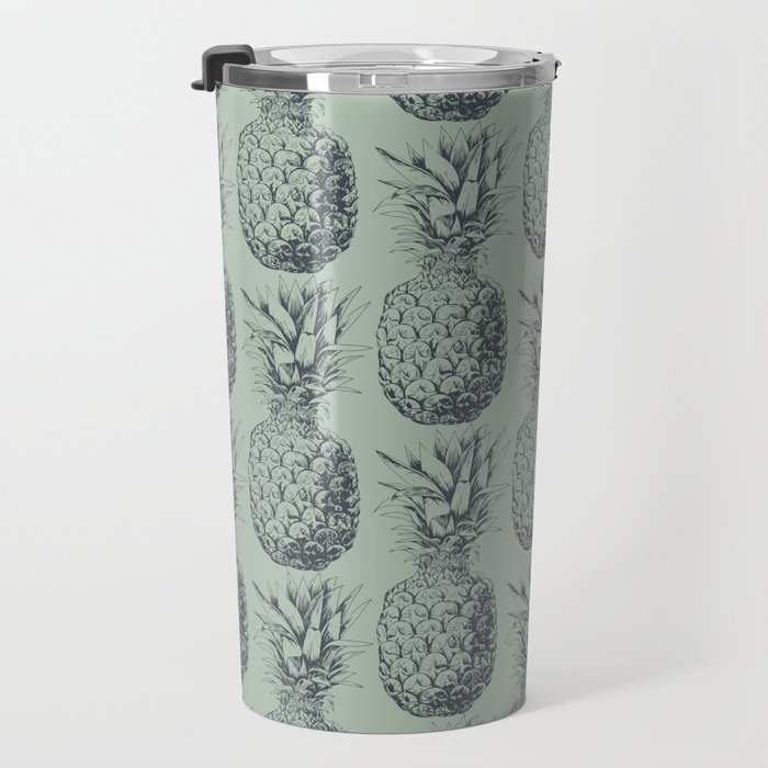 Pineapple, tropical fruit pattern design Travel Mug