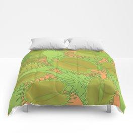 Free Hugs (Venus flytrap - Orange) Comforters