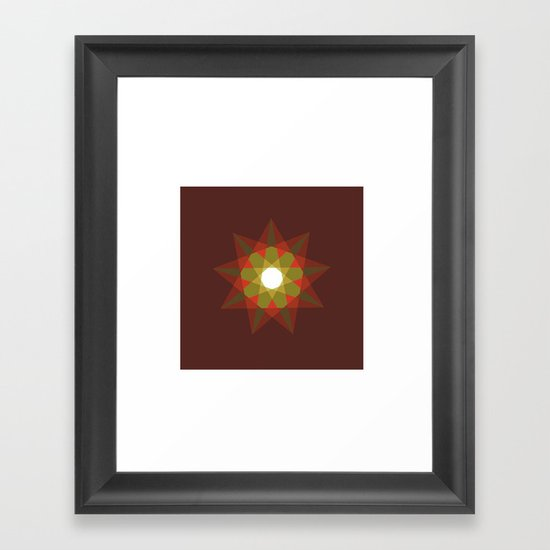 #351 Nine-sided christmas star – Geometry Daily Framed Art Print