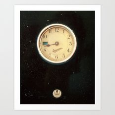 Retro Clock Art Print