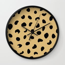 Leopard Print - Warm Neutral Wall Clock