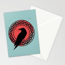 Munin - Nordic Crow Art Stationery Cards