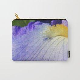 Blue Violet Iris Petal Close up Carry-All Pouch