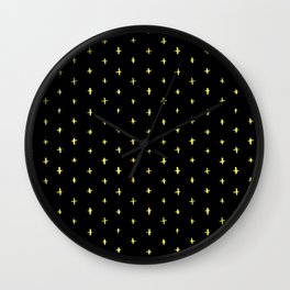yellow stars Wall Clock