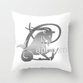 Capricorn the Goat - Zodiac Sign Throw Pillow