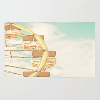 ferris wheel Area & Throw Rugs featuring Ferris Wheel by Sweet Moments Captured