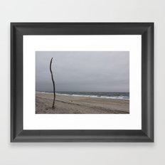 Cloudy Beach Day Framed Art Print