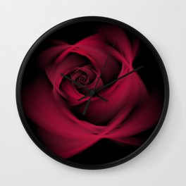 Abstract Rose Burgundy Passion Wall Clock