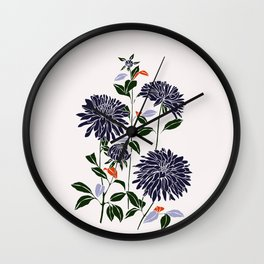 Botanical illustration print - Lara Wall Clock