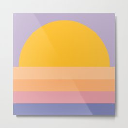 Retro Sunset - Bright Vibrant Colors Metal Print