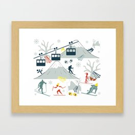 SKI LIFTS Framed Art Print