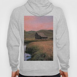Old Barn at Sunset Hoody
