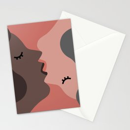 Love, Kiss, Couple Stationery Cards