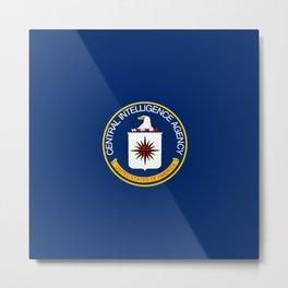 CIA Flag Metal Print