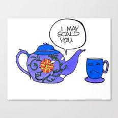 Tea Issues - Tissues Canvas Print