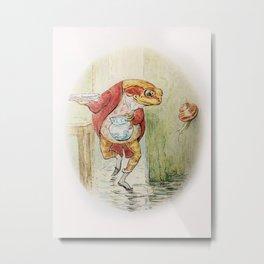Mr Jeremy Fisher - Beatrix Potter Metal Print