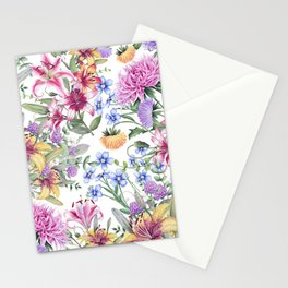 FLORAL WATERCOLOR 10 Stationery Cards