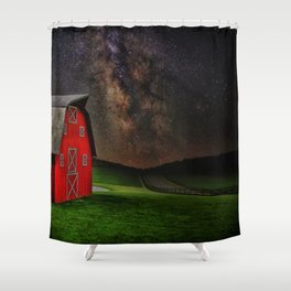 Midnight Farm  Shower Curtain