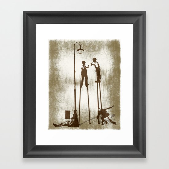 Higher level of sobriety Framed Art Print