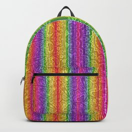 Psychedelic Hippie Bohemian Stripes Backpack