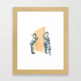 Gottlieb and Turing Framed Art Print
