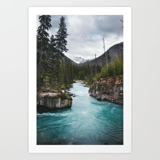 Marble Canyon, British Columbia Art Print