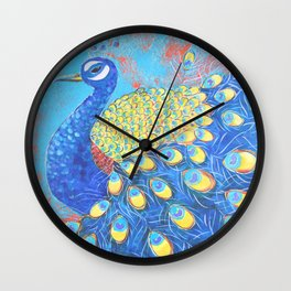 Peacock: Grace Under Fire Wall Clock