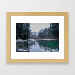 Zen Lake, British Columbia Framed Art Print