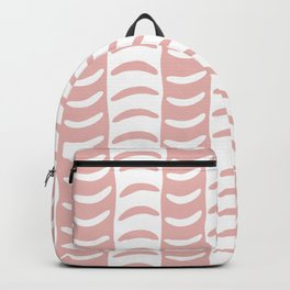 Wavy Stripes Dusty Rose Backpack