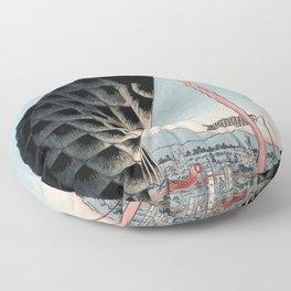 Carp Banners Vintage Ukiyo-e Japanese Art Floor Pillow