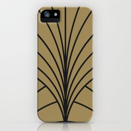 Diamond Series Floral Burst Charcoal on Gold iPhone Case