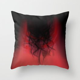 Heart of madness Throw Pillow