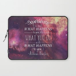 "Aldous Huxley Quote Poster - ""Experience is not what happens to you..."" Laptop Sleeve"